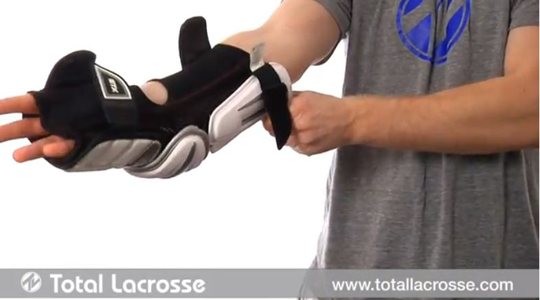 How to fit lacrosse arm pads